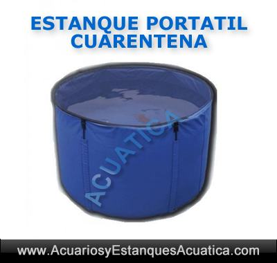 estanque-portable-flexible-tanque-portatil-azul-kois-carpas-peces-hospital-cuarentena-plegable