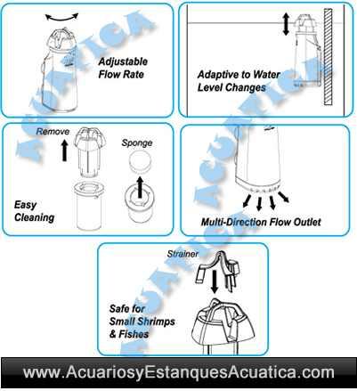 of-Ocean-Free-Surf-Clear-skimmer-de-superficie-acuario-nata-aceite-polvo-instrucciones