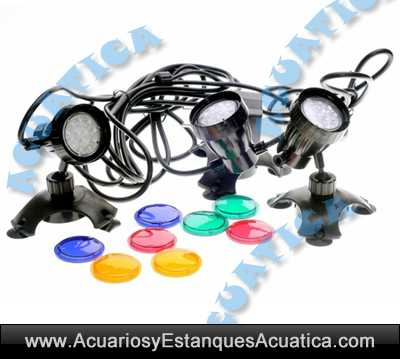3 x 1w luces led sumergibles for Accesorios para estanques