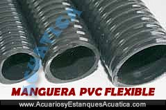 Manguera pvc flexible estanques x m acuarios y estanques for Construccion estanque para kois