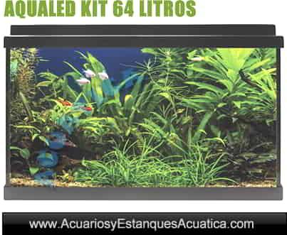 comprar-acuario-set-kit-Aqualed-ica-icasa-Blanco-negro-64-litros-completo