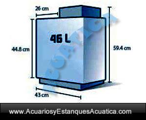 hagen-acuario-fluval-edge-46-litros-negro-blanco-agua-dulce-medidas-dimensiones
