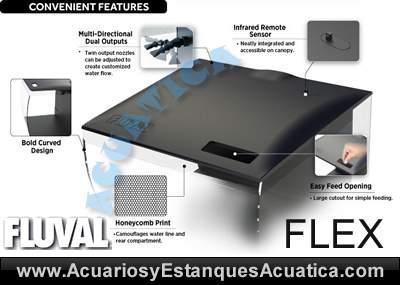 hagen-fluval-flex-36-57-nano-acuario-kit-cubo-led-equipamiento-completo-blanco-negro-colores-tapa-detalles