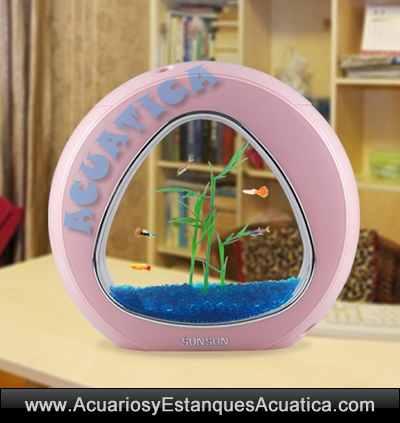sunsun-ya-02-acuario-6L-kit-filtracion-rosa-oferta-iluminacion-leds