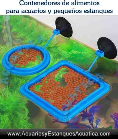 Alimentador contenedor comida para acuarios for Alimentacion para peces de acuario