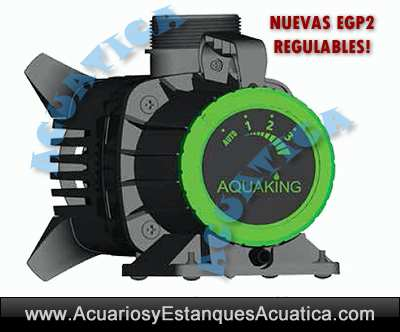 Aquaking egp2 eco bomba de agua para estanques acuarios for Bombas de agua para estanques de jardin