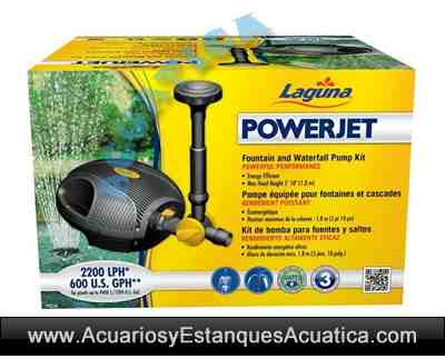 Laguna power jet bomba fuente estanques for Bomba agua estanque