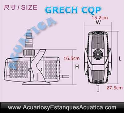 grech-cqp-bomba-de-agua-para-estanques-medidas-dimensiones