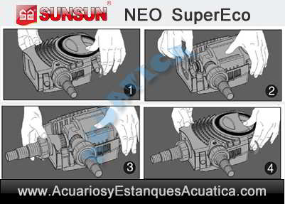 sunsun-neo-b-bomba-de-agua-estanques-filtro-cascada-instrucciones-limpieza