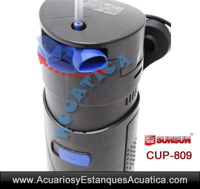 sunsun-cup-809-9w-uv-ultravioleta-con-bomba-filtro-sumergible-agua-verde-algas-detalle-boquilla-movil-salida