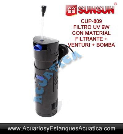 sunsun-cup-809-9w-uv-ultravioleta-con-bomba-filtro-sumergible-agua-verde