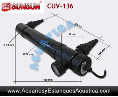 sunsun-cuv-136-clarificador-ultravioleta-algas-verde-estanque-acuario-medidas
