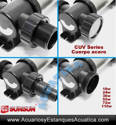 sunsun-cuv-755-55w-772-72w-7110-110w-clarificador-filtro-uv-ultravioleta-germicida-esterilizador-algas-estanque-conexiones