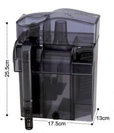 Skimmer y filtro mochila dophin ps1 acuarios marinos for Filtro acuario marino