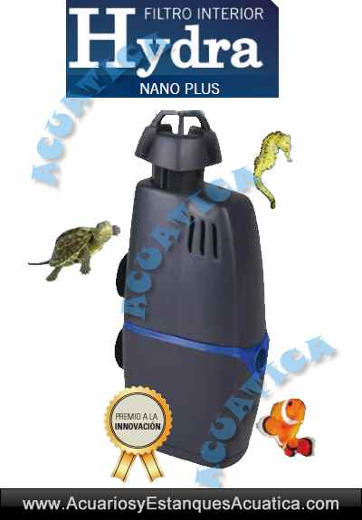 Filtro interior hydra nano plus acuarios terrarios for Filtro acuario marino