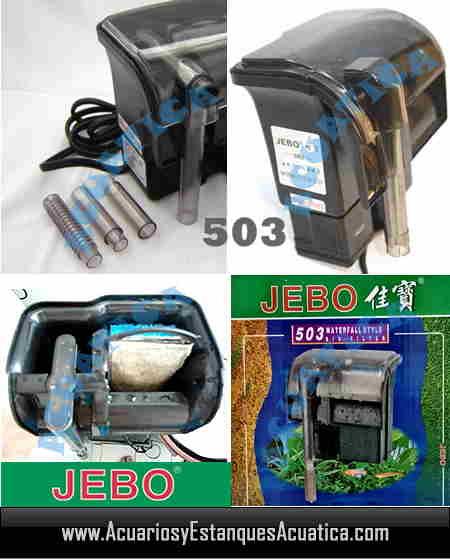 Jebo 503 filtro cascada acuario acuarios y estanques for Filtro acuario marino