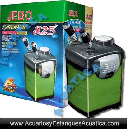 Jebo 825 filtro acuarios externo acuarios y estanques for Filtro acuario marino