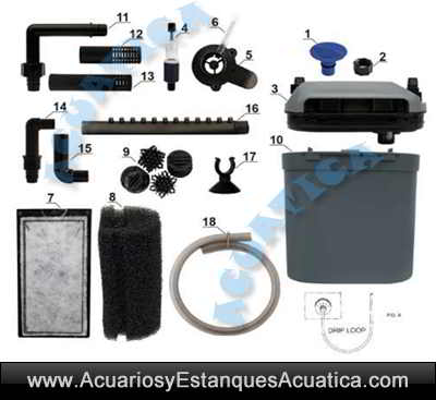 filtro-acuario-prodac-df-400-df400-exterior-externo-pecera-peces-tropical-partes