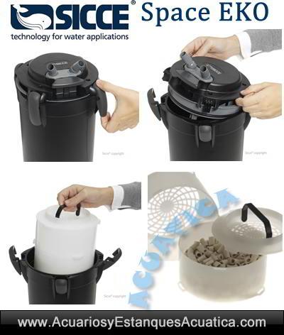 filtro-acuario-sicce-Space-Eko-tortuguera-externo-exterior-pecera-material-filtrante-filtracion