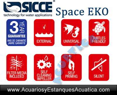 filtro-acuario-sicce-Space-Eko-tortuguera-externo-exterior-pecera-tortugas-auto-cebado-logos-silencio-ce