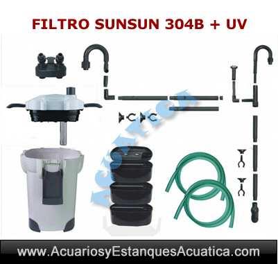 sunsun-304B-filtro-externo-2000-uv-c-ultravioleta-acuarios-exterior-acuario-pecera-filtracion-bomba