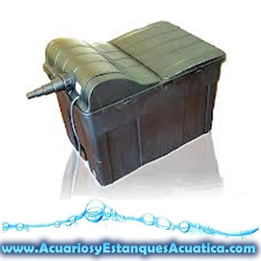 Filtro de gravedad caja estanques uv c 18w incluida for Filtro estanque koi