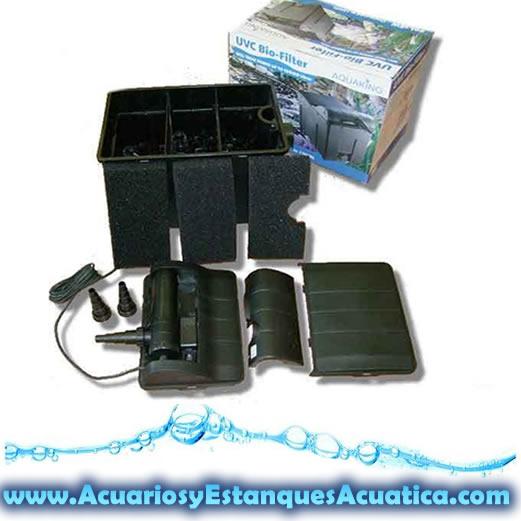 Filtro de gravedad caja estanques uv c 18w incluida for Filtro estanque peces