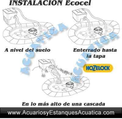 filtro-hozelock-ecocel-5000-10000-20000-estanque-filtracion-gravedad-instalacion