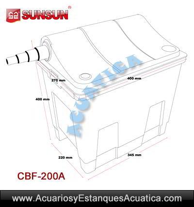 SUNSUN-CBF200A-filtro-estanque-estera-japonesa-esponja-instalacion-exterior-medidas