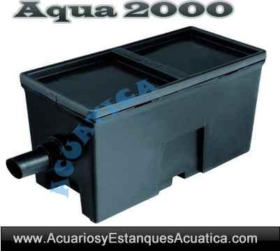 Aqua2 filtro gravedad estanques 2000l acuarios y for Estanque prefabricado barato
