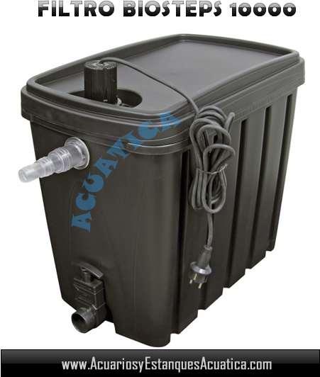 Jebo biosteps 10 filtro para estanques acuarios y for Filtro estanque