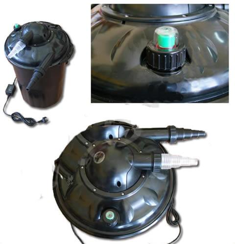 Filtro a presion con lampara uv c 11w para estanques for Filtro para estanque