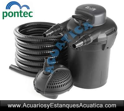Pontec pondopress set 5000 filtracion estanques for Estanque para agua 5000 litros