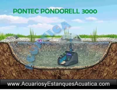 Pontec-PondoRell-3000-filtro-estanque-uv-fuente-instalacion-sumergido