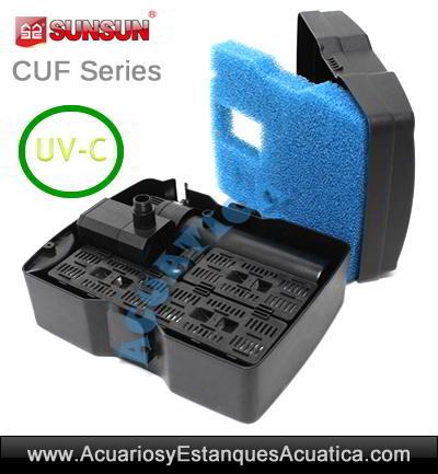filtro-estanque-sunsun-cuf-2500-sumergible-uv-ultravioleta-juegos-de-agua-boquillas-fuente-esponjas-foamex