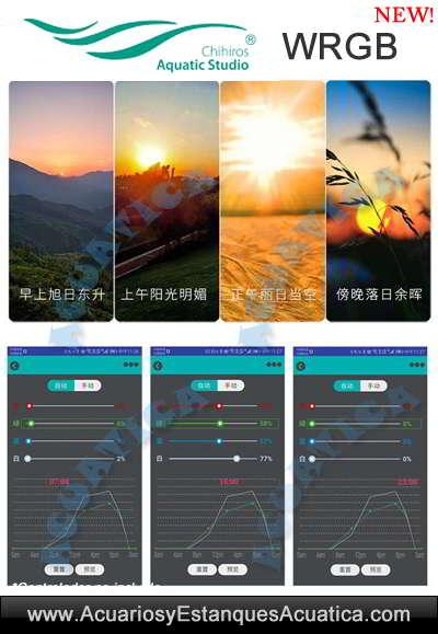 venta-pantalla-Chihiros-WRGB-LED-acuario-iluminación-planta-luz-nueva-plantado-dulce-commander-4-app