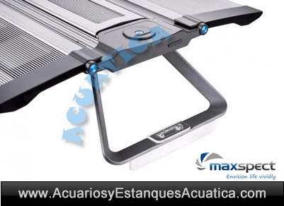 maxspect-recurve-pantalla-luz-leds-lentes-acuario-agua-salada-marino-arrecife-detalle
