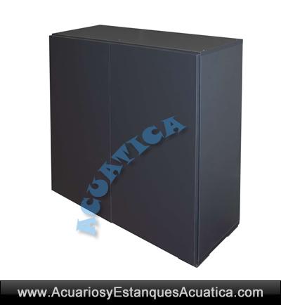 mesa-mueble-acuario-M80G-aqualux-aqualed-pro-pecera-kit-gris-antracita-oscuro