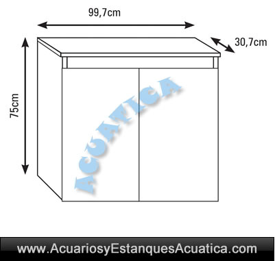 mesa-mueble-acuario-M100-aqualux-aqualed-pro-pecera-blanco-negro-medidas